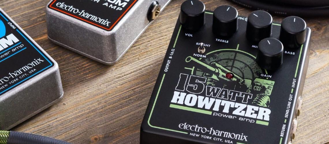 Electro-Harmonix Howitzer, Amp de 15 Watts Sob os Pés
