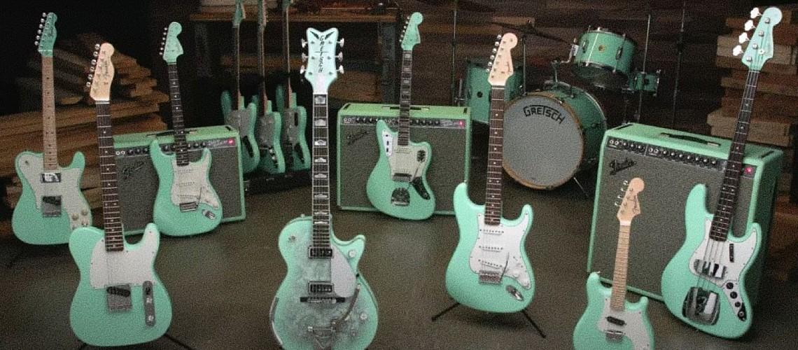 Fender Celebra o Histórico Acabamento Surf Green