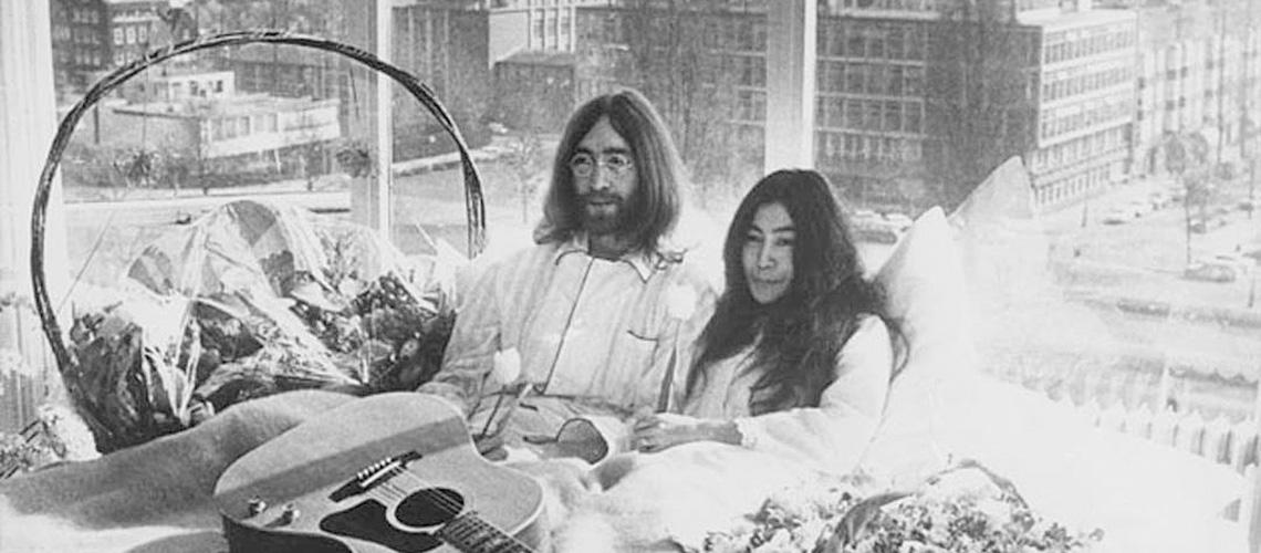 """""""Give Peace a Chance"""": Vídeo Inédito de John Lennon e Yoko Ono"""