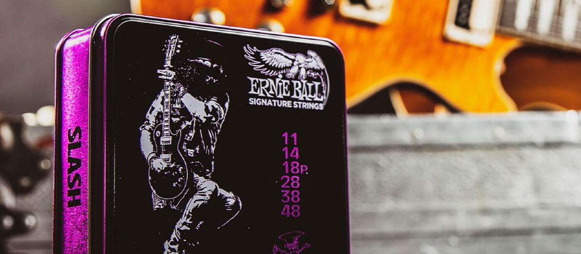 Ernie Ball Signature Strings Slash Tornam a Ser Enroladas
