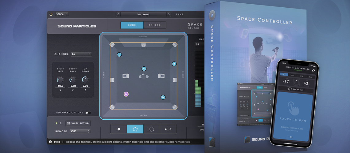 Sound Particles: Space Controller, Plugin Made in Portugal