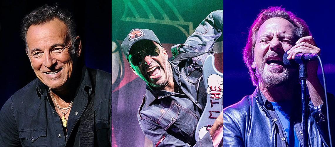 """Tom Morello, Eddie Vedder e Bruce Springsteen Juntos em Versão de """"Highway to Hell"""""""